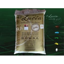 Bomba di riso 5 kg. Contenitore di plastica